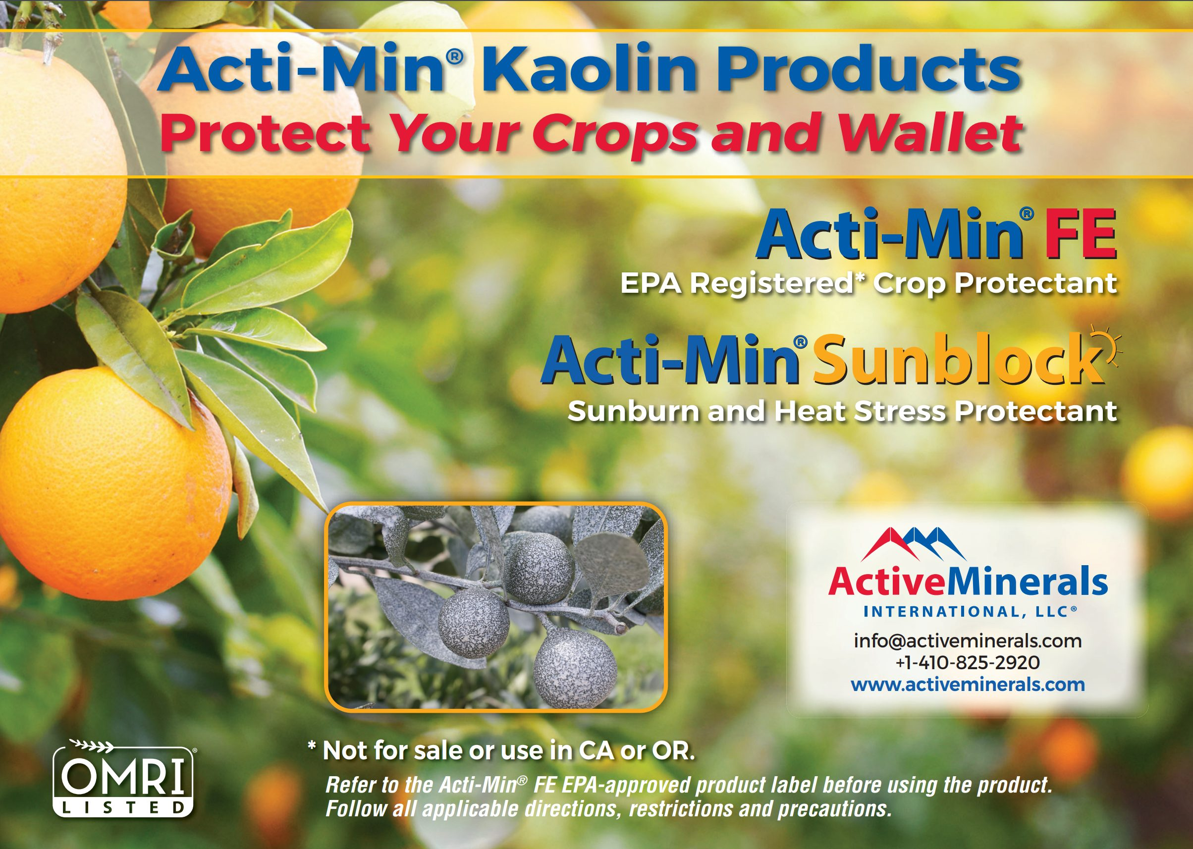Actimin Kaolin Product Ad